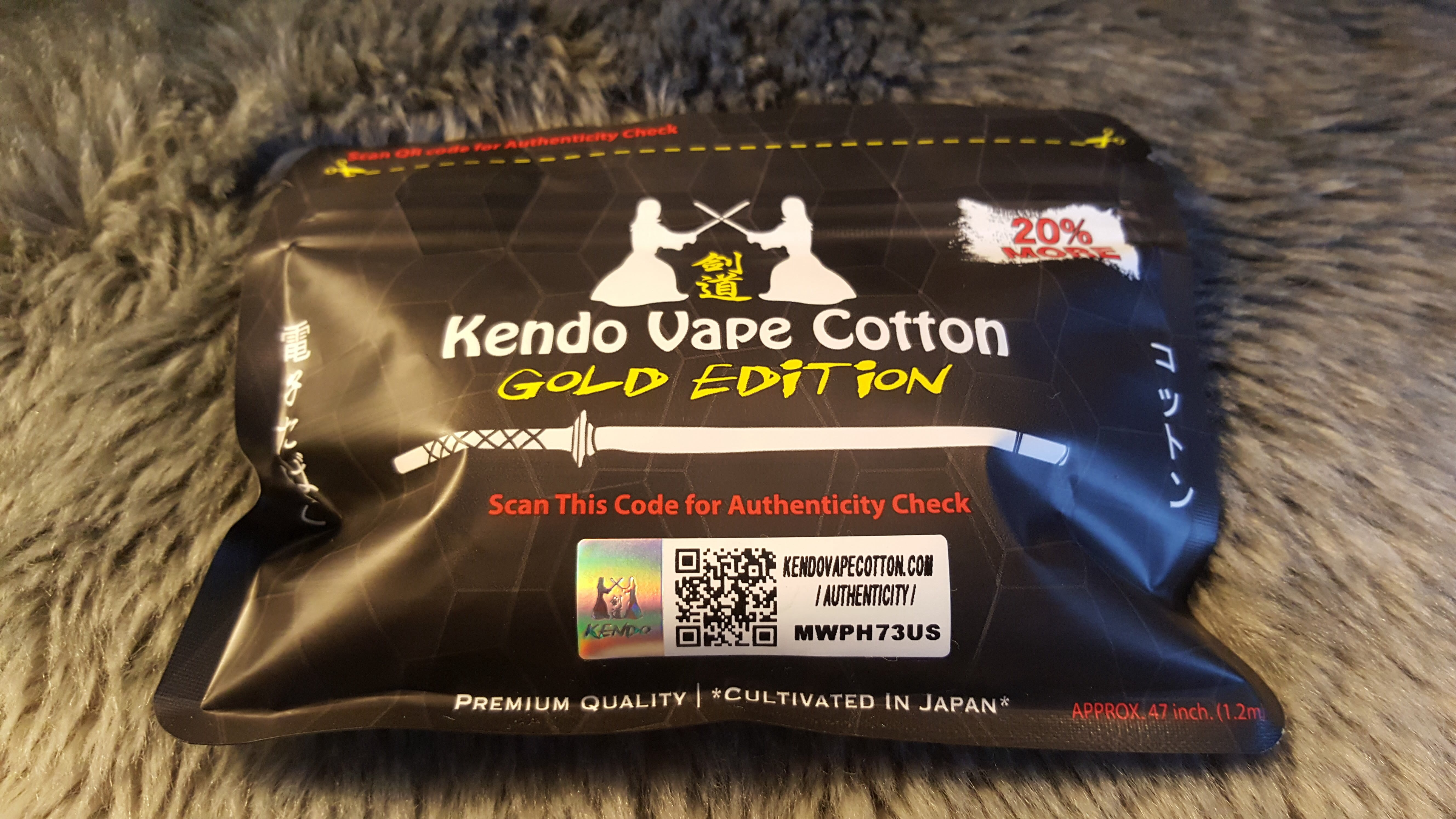 Wicking Cotton Kendo Vape Cotton Gold Edition