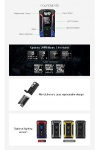Vaporesso Switcher Box MOD Design, Look and Feel