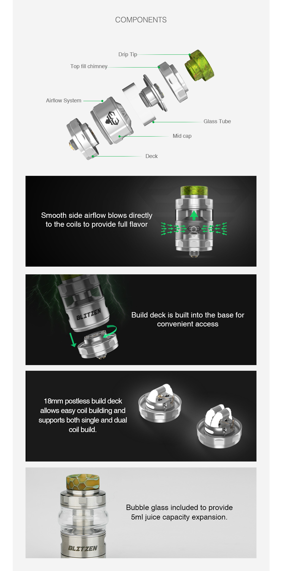Geekvape Blitzen RTA Features