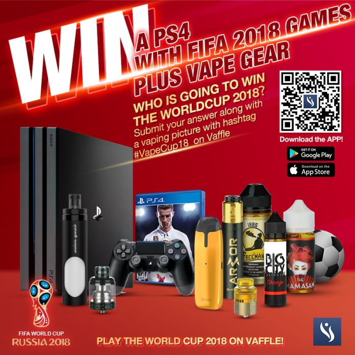 Win PS4 world cup vaffle