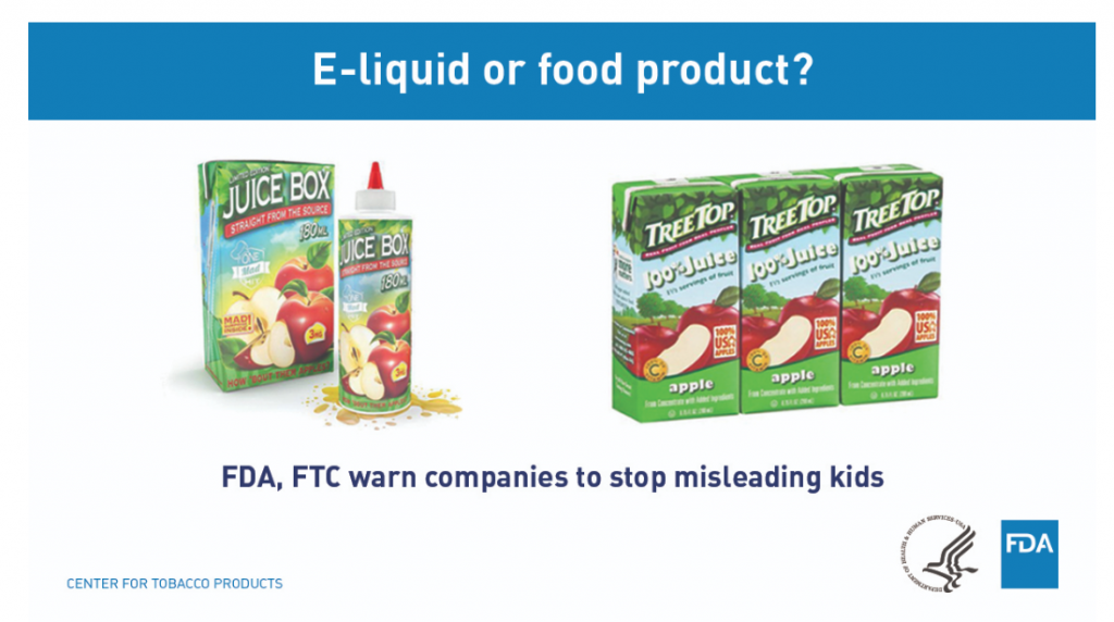 FDA-against-eliquid-that-resembles-children-products
