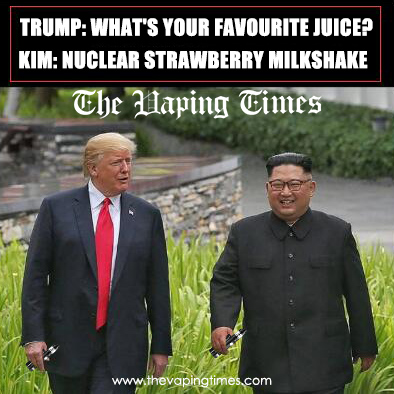 Trump and Kim Vape Meme