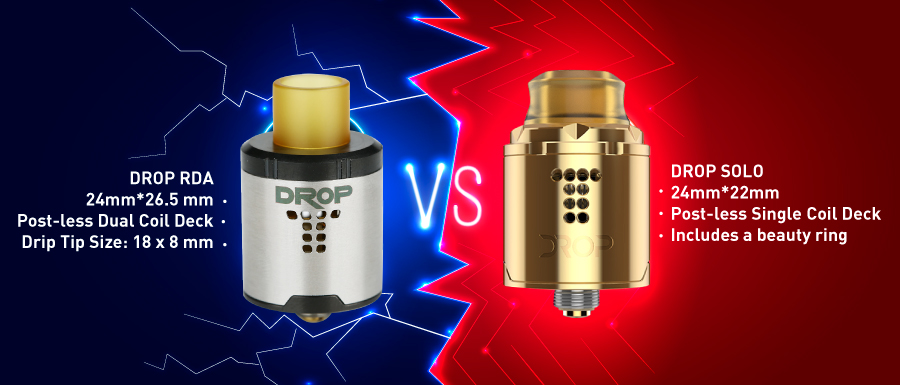Drop RDA vs Drop solo
